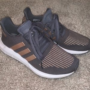 Adidas Tennis Shoes-Gray and Gold